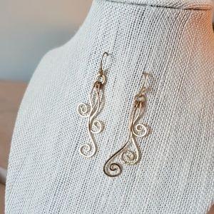 Artisan Gold Whimsical Dangle Earrings